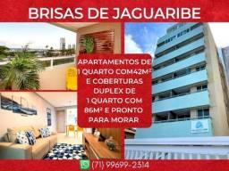Brisas de Jaguaribe, 1 quarto em 42m² com 1 vaga degaragem em Jaguaribe - Maravilhoso