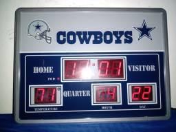 Dallas Cowboys - Relógio De Parede Digital