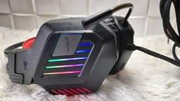 Headset gamer com luz de led e microfone flexível/ Preço Imbatível