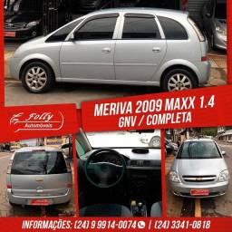 MERIVA 2009 MAXX 1.4 GNV COMPLETA CARRO NOVO
