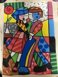 Pintura em tela Casal