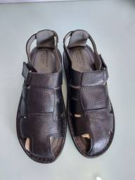 Sandália em couro legítimo masculina