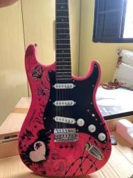 Guitarra Eagle EGP10 Rosa Personalizada