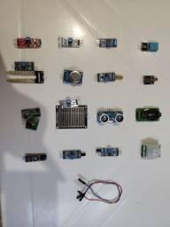Kit sensores + Kit módulos de comunicação Arduino Raspberry Pi