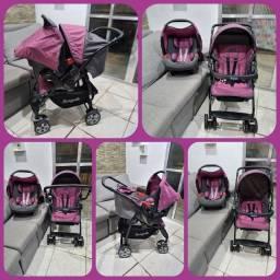 Lindo Conjunto de Carrinho de bebê e Bebê conforto Burigotto