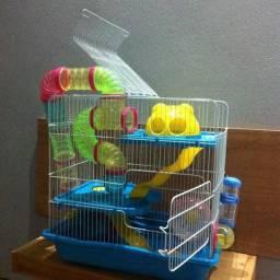 Gaiola hamster (Safari Gigante) + Gaiola de brinde