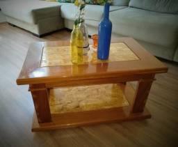 Mesa de Centro - Feito de madeira Maciça Cerejeira