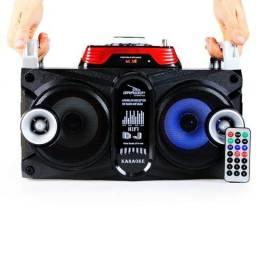 Caixa De Som Com Bluetooth Karaoke Potente 40W RMS