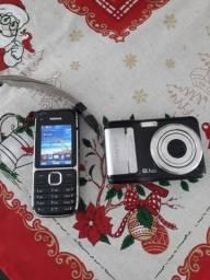 Vendo um celular e uma máquina digital