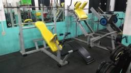 Aparelhos de musculação e acessórios completo