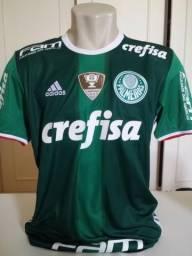f069567314 Rara camisa de jogo do Palmeiras com numeração da Olimpíada 2016  17  L.Pereira