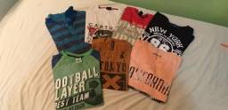 Camisetas tamanho 14