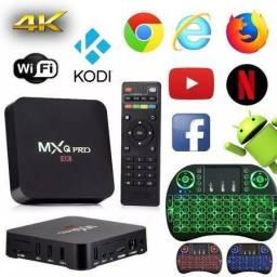 Kit tv box + teclado keyboard wifi