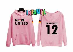 Moletom Now United Sina Deinert rosa