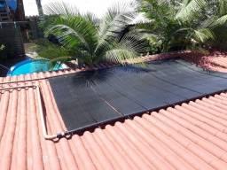 Instalação de aquecimento solar para piscinas