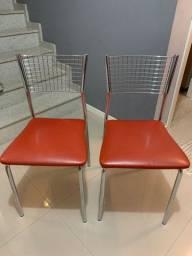 4 - quatro cadeiras Milano cromadas para cozinha