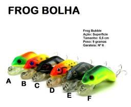 6 Iscas artificiais Sapo Frog Bolha Bubble pesca Tucunaré Traíra Black Bass Top