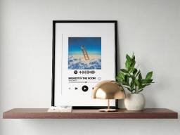 Arquivo digital spotify interativo com foto