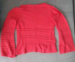 Blusa vermelha de linho