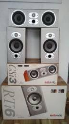 Conjunto de caixas Polk Audio (embalagem original)