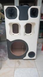 Vende ou troca caixa de som com rodas  p boca de 12