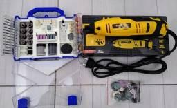 Micro Retifica Hammer 110v Mais Acessórios P/ Mini Retífica C/ 145 Peças Eda