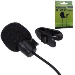 Microfone de lapela p3 ótima qualidade de gravação