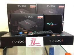 Tv Box 4k 4gb de RAM. 64gb de memória. Android 10.0