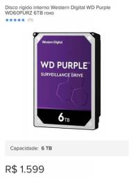 HD WD purple roxo 6tb