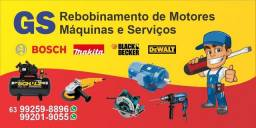Rebobinamento de motores máquinas e serviços