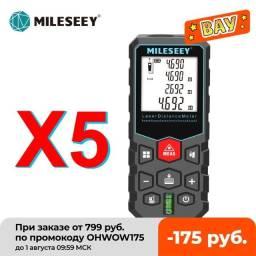 Trena Profissional Mileseey Medidor de Distância A Laser X5 60 Metros Digital