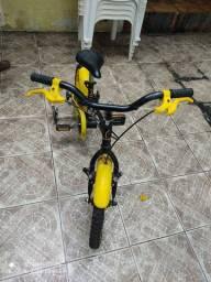 Bicicleta Caloi Team R16 Preto / Amarelo - Caloi