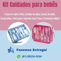 kit higiene primeiros cuidados bebê