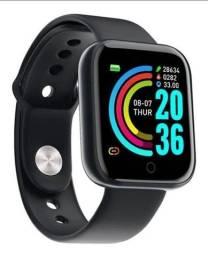 Smartwatch y68 relógio inteligente esportivo
