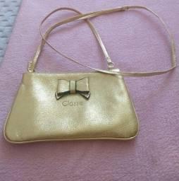 Bolsa Pequena Dourada lateral