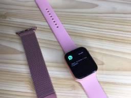 Smartwatch Já com pulseira em metal FAZ LIGAÇÃO