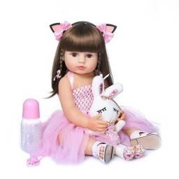 boneca bebe reborn toda em silicone