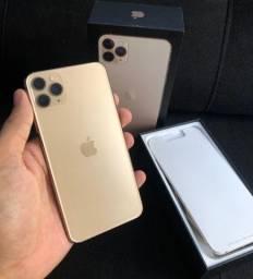 iPhone 11 Pro Max Gold 64 GB, completo na Caixa
