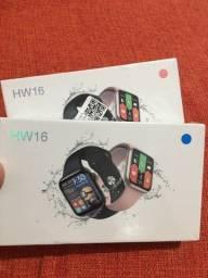 Smartwatch HW16 44mm - Rosa e Azul (relógio)