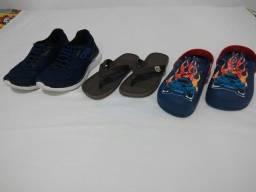 Calçados infantis lote com 3 pares