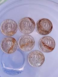 7 moedas réis 1918