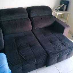 Sofa 2 a 3 lugares retrátil e reclinável R$500,00