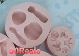 Formas de silicone pra biscuit