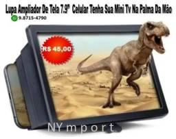 Lupa Ampliador De Tela 7.9 Polegadas Pra Celular Tenha Sua Mini Tv Na Palma Da Mão