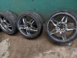 VENDO pneu aro 18 cromado