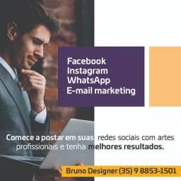 Artes para facebook e Instagram profissional