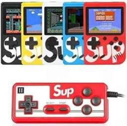 PROMOÇÃO!! Mini Vídeo Game Portátil 400 Jogos Retro Clássico Controle 2 Jogadores SUP