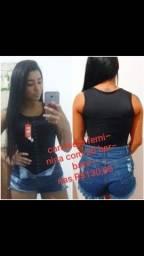 Faby f cintas cinta camiseta feminina com barbatanas
