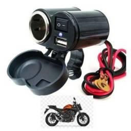 Carregador moto celular tomada motoboy