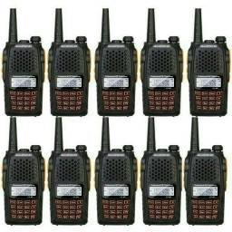 Kit 10 Radio Dual Band(uhf+vhf) Baofeng Uv-6r + Fone